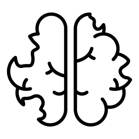 Disease brain icon. Outline disease brain vector icon for web design isolated on white background
