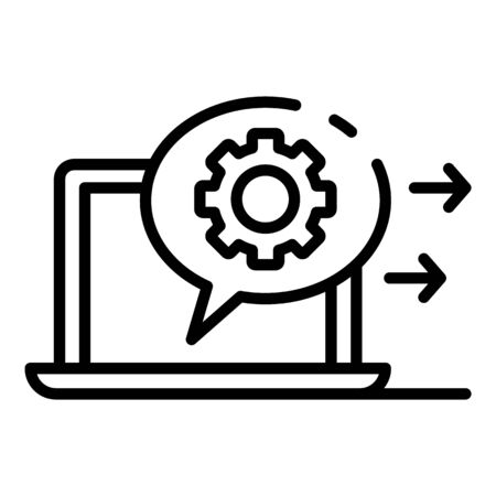 Configure server connection icon. Outline configure server connection vector icon for web design isolated on white background Ilustração