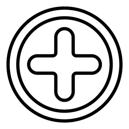 Phillips screw icon, outline style