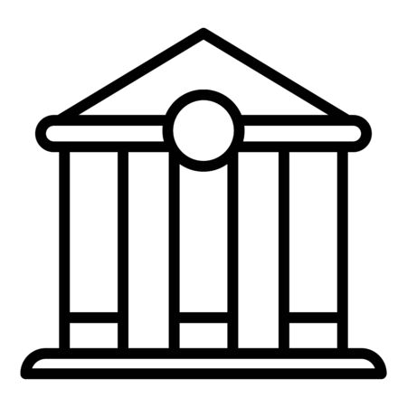 Mortgage bank icon, outline style Illustration