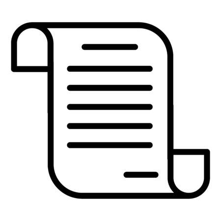 Mortgage loan agreement icon, outline style