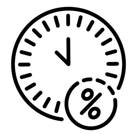 Mortgage repayment time icon. Outline mortgage repayment time vector icon for web design isolated on white background