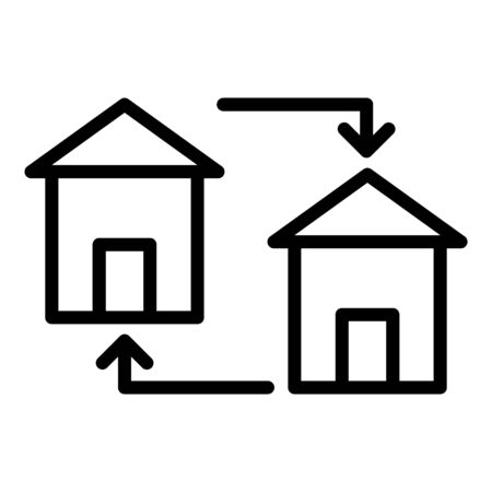 Housing exchange icon, outline style
