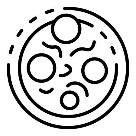 Diplococcus icon, outline style