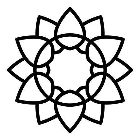 Stylized sunflower icon. Outline stylized sunflower vector icon for web design isolated on white background Illustration