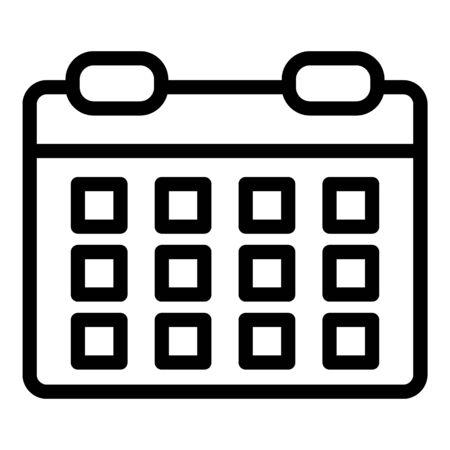 Production calendar icon. Outline production calendar vector icon for web design isolated on white background Ilustração