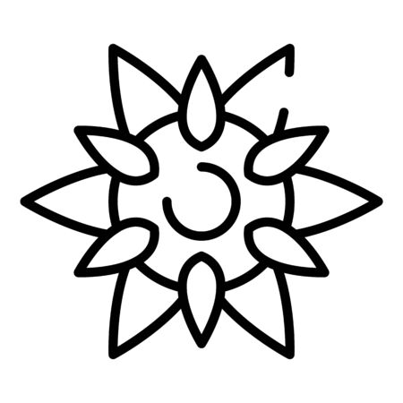 Wild sunflower icon. Outline wild sunflower vector icon for web design isolated on white background Illustration