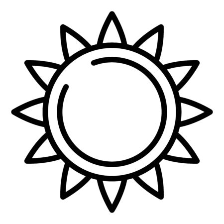 Big sunflower icon. Outline big sunflower vector icon for web design isolated on white background