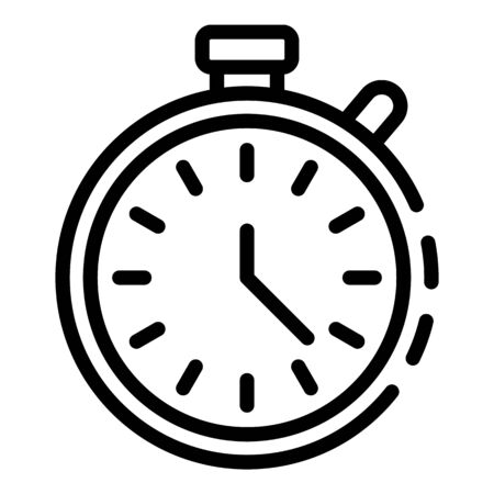 Stopwatch icon. Outline stopwatch vector icon for web design isolated on white background Banque d'images - 130245729
