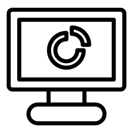 Personal computer icon. Outline personal computer vector icon for web design isolated on white background