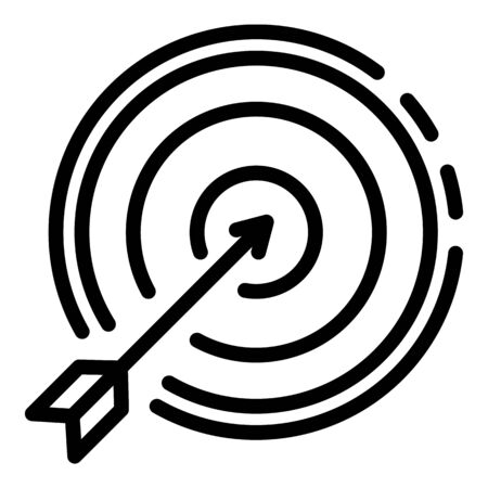 Arrow right on target icon, outline style Ilustrace