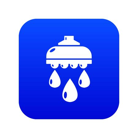 Shower head icon blue vector isolated on white background  イラスト・ベクター素材