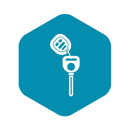 Car key with remote control icon in simple style on a white background vector illustration