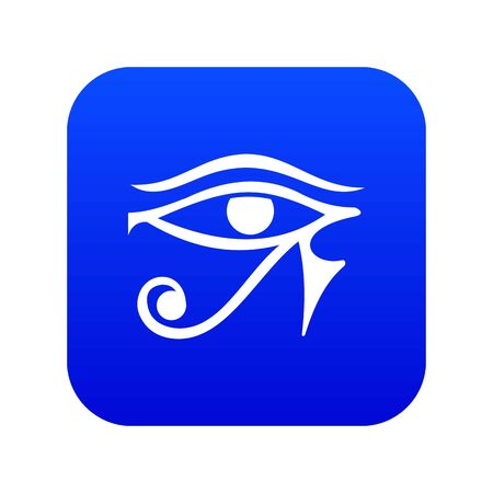 Eye of Horus Egypt Deity icon digital blue for any design isolated on white vector illustration Banque d'images - 130245806