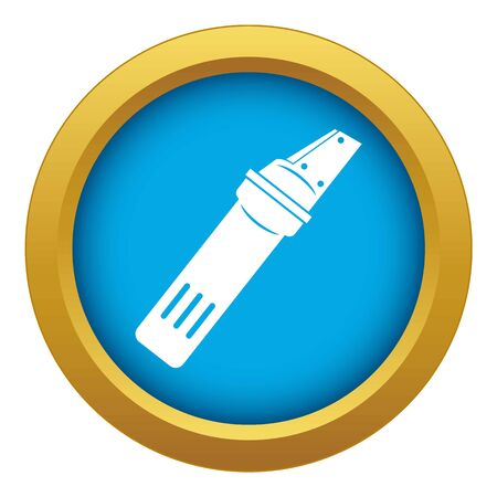 Glass cutter icon blue vector isolated on white background for any design