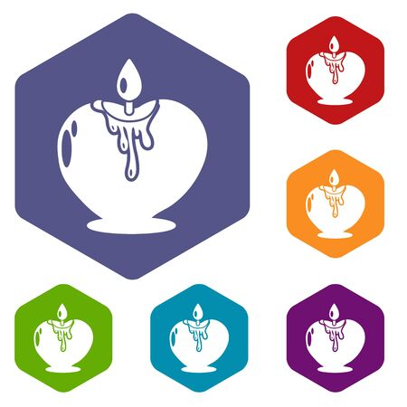Candle romance icon. Simple illustration of candle romance vector icon for web