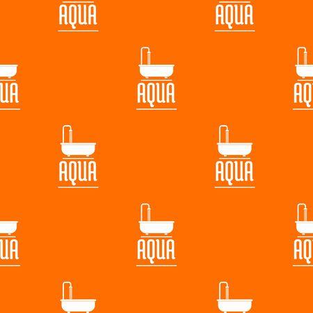 Aqua pattern vector orange