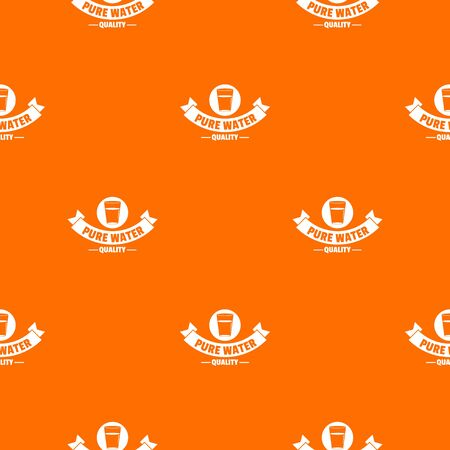 Quality pure water pattern vector orange Illustration