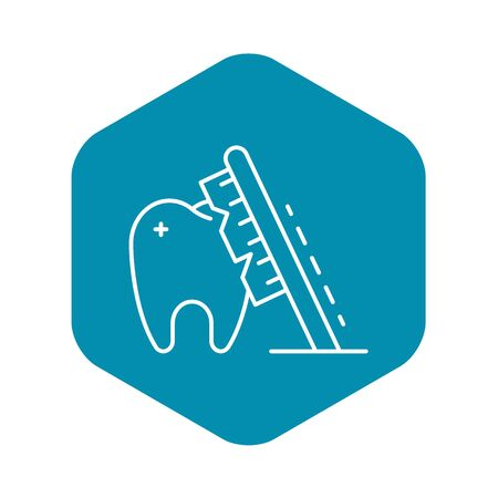 Toothbrush clean tooth icon, outline style