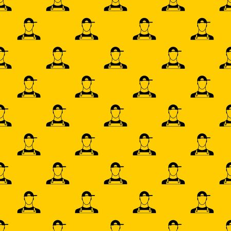Plumber pattern seamless vector repeat geometric yellow for any design