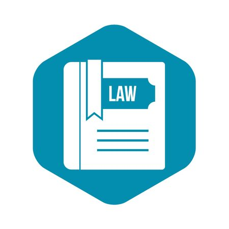 Law book icon in simple style on a white background vector illustration Иллюстрация