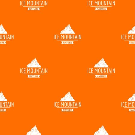 Ice mountain pattern vector orange Ilustração