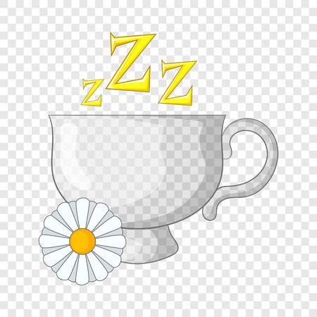 Chamomile tea icon. Cartoon illustration of chamomile tea vector icon for web