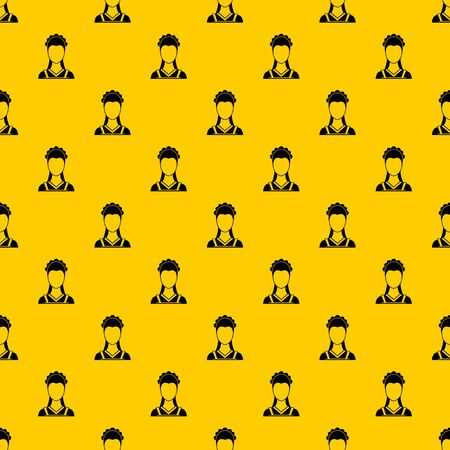 Maid pattern seamless vector repeat geometric yellow for any design
