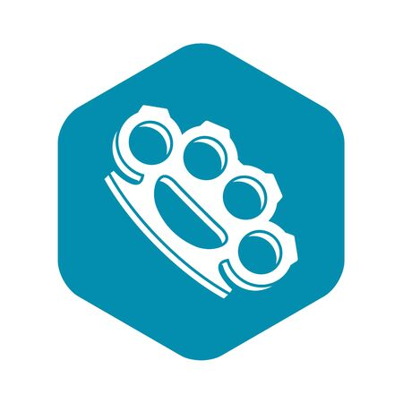 Brass knuckles icon in simple style on a white background vector illustration