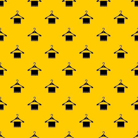 Scarf on coat hanger pattern seamless vector repeat geometric yellow for any design