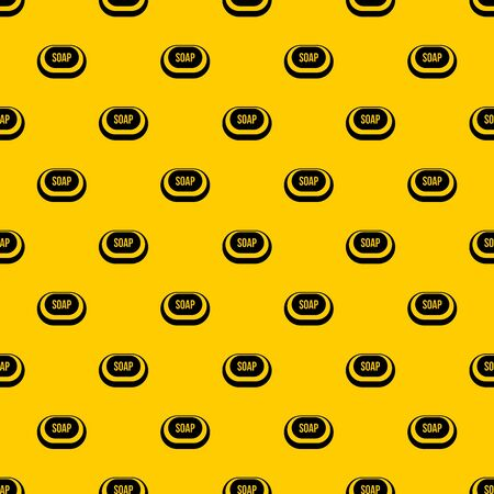 Soap pattern seamless vector repeat geometric yellow for any design