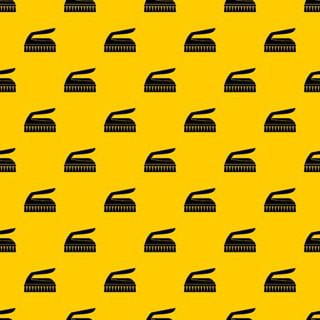 Brush for cleaning pattern seamless vector repeat geometric yellow for any design