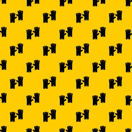 Rubber gloves pattern seamless vector repeat geometric yellow for any design 일러스트