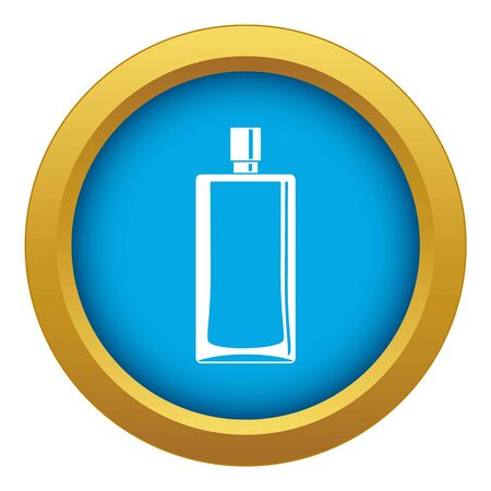 Scent bottle icon blue vector isolated on white background for any design Illustration