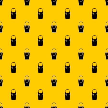 Bucket and rag pattern seamless vector repeat geometric yellow for any design