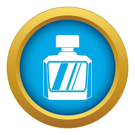 Jar of perfume icon blue vector isolated on white background for any design Çizim