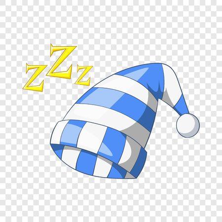 Sleeping cap icon, cartoon style Ilustração
