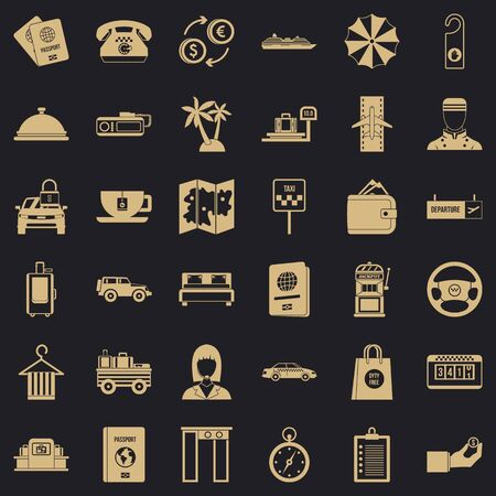 Profitable icons set. Simple set of 36 profitable vector icons for web for any design Ilustração