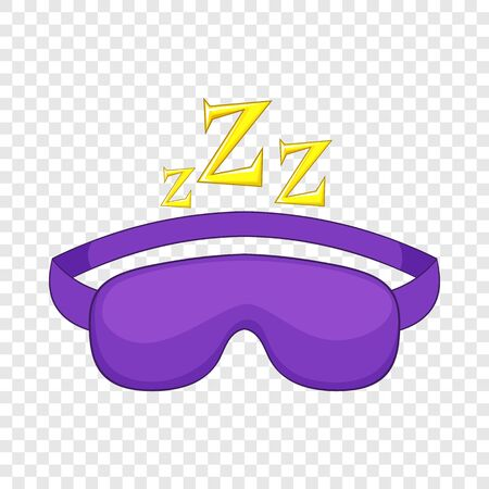 Sleeping mask icon, cartoon style