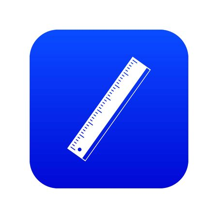 Yardstick icon digital blue for any design isolated on white vector illustration Иллюстрация