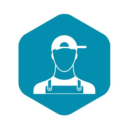 Plumber icon in simple style on a white background vector illustration