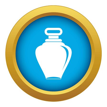Parfume bottle icon blue vector isolated on white background for any design