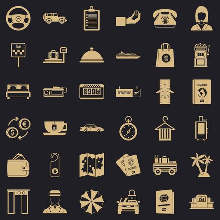 Loot icons set. Simple set of 36 loot vector icons for web for any design Ilustração