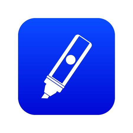 Permanent marker icon digital blue Çizim