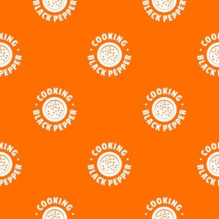 Black pepper pattern vector orange Illustration