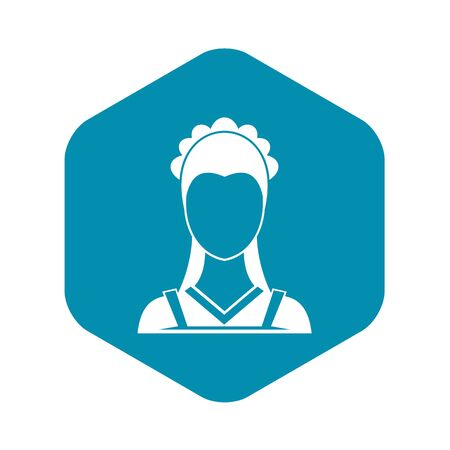 Maid icon in simple style on a white background vector illustration Ilustração