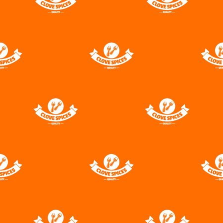 Clove spice pattern vector orange
