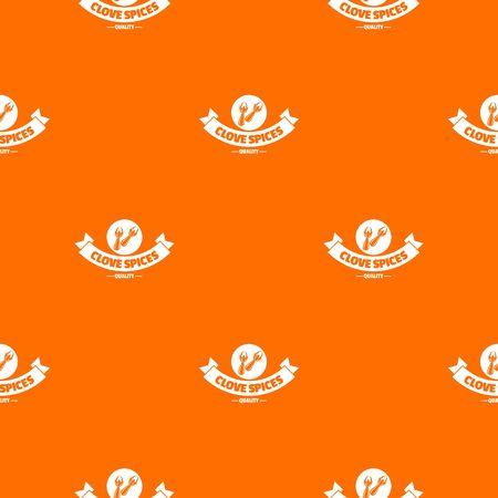 Clove spice pattern vector orange