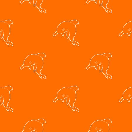 Dolphin pattern vector orange for any web design best