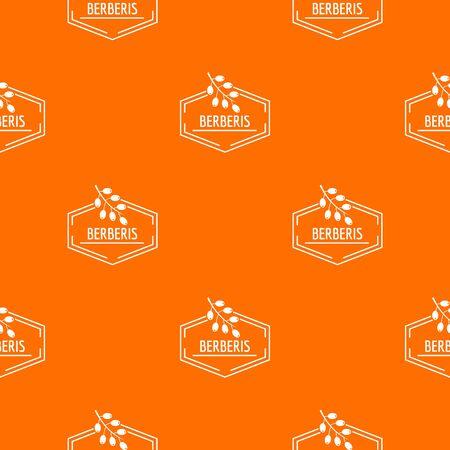 Berberis pattern vector orange Illustration